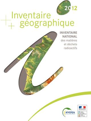 Extrait de l'inventaire géographique national des matières et déchets radioactifs