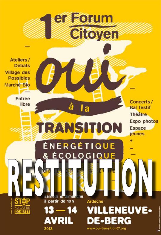 Premier forum citoyen pour la transition énergétique